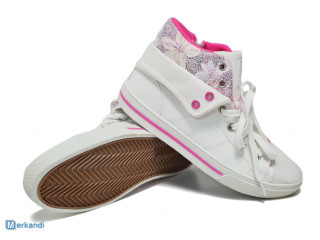 Chaussures enfant 'Play zone' blanches - baskets fille