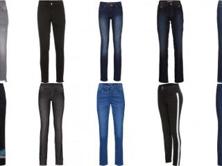 Femmes marques jeans mix package tube slim straight straight stock res