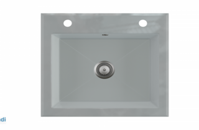 Évier simple en verre gris Èbre